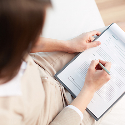 Complete new patient forms on your first visit to Premier Chiropractic Center